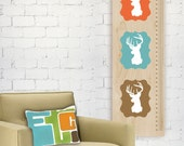 Oh Deer Growth Chart - Modern Nursery Wall Art