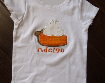 Boutique Pumpkin Pie Thanksgiving Shirt Sizes 3M to 14 Youth