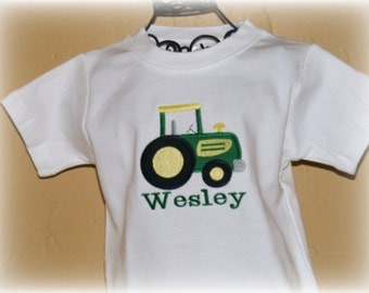 Boutique Boys Tractor Shirt Sizes Newborn to 18 youth