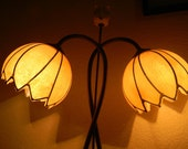 Art Deco/Nouveau Custom Style Reading Lamp Electric Dual Bulbs One Switch Control WORKS