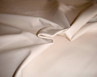 Italian hides soft lambskin leather hide IVORY 6sqf