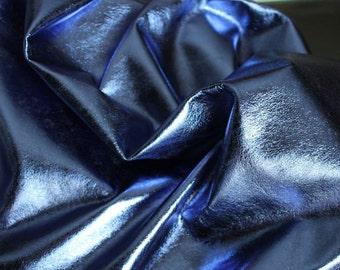 ITALIAN lambskin leather skin skins hide METALLIC BLUE 6sqf