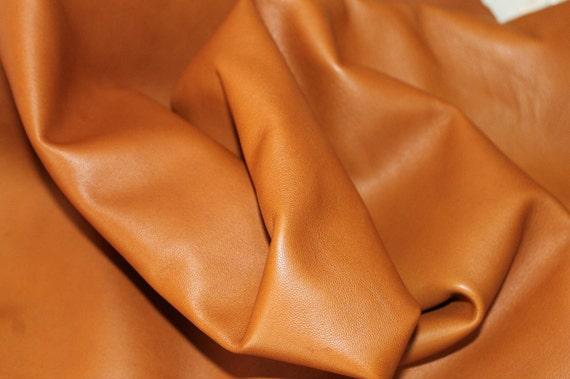 Italian Lambskin leather  hide skin pelt CUOIO TAN 7sqf