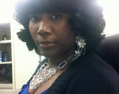 Perm Straight Brazilian Remy bangs with Virgin Curly Remy Hair Bob Wig with no leave out center part
