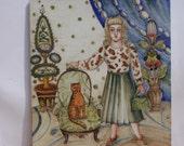 Madam Painting On Porcelain Tile