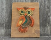 Owl Nail Art Wooden Plaque