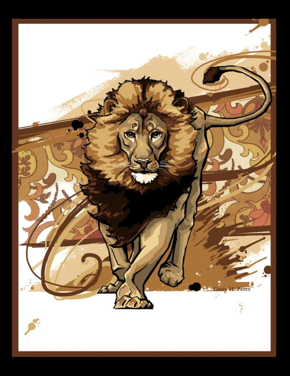 Asiatic Lion Digital Print