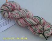 "SALE - Annie's Xmas - Hearthside Fibers ""BaaBoo"" - Superwash Merino/Bamboo/Nylon Hand Dyed Sock Yarn"
