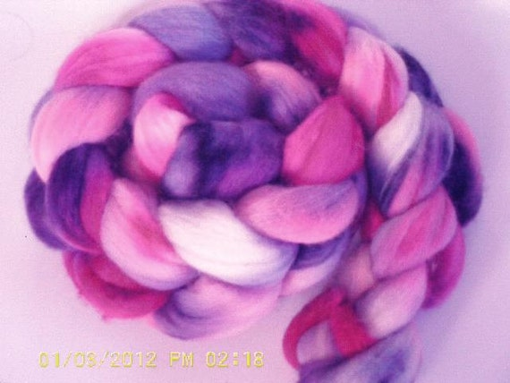 Polwarth Roving - Romance - Hand Dyed
