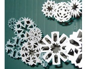 Snowflake PATTERNS, Set No. 2. . . Winter Wonderland Paper Snowflakes for Weddings, Special Events, Home Decor Ornament Decorations