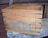 Old Wooden Libbys Roast Beef Box