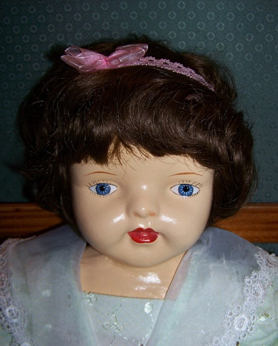 1920s - 1930s Sweet Antique Composition Baby Doll - Marked A.C. Co. - 25 inches tall