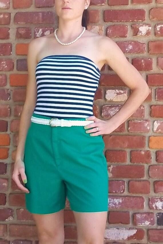 Green Levi's High-waist Shorts