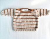 Baby sweater unisex soft yan / Gilet de bébé unisexe avec laine douce