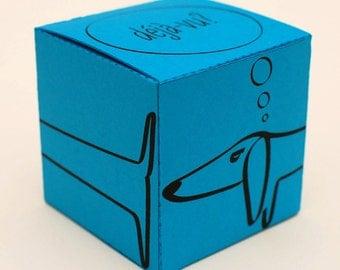 Deja-vu printable DIY gift box fun packaging colorful gift wrap, favor box, cupcake box, small mini gift box, INSTANT DOWNLOAD