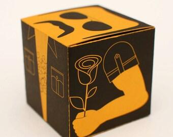 Mr. Moustache Marcel printable DIY gift box, favor box, cupcake box, small mini gift box, INSTANT DOWNLOAD