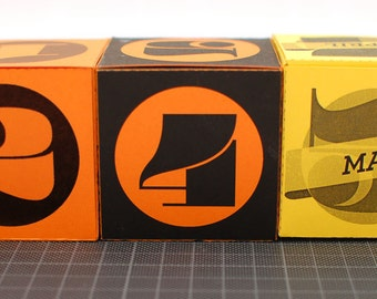 Perpetual calendar printable DIY cube box, fun printable, INSTANT DOWNLOAD