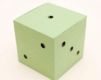 Simple dice printable DIY gift box, fun packaging, favor box, cupcake box, small mini gift box, INSTANT DOWNLOAD