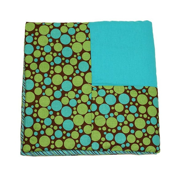 Chic Teal & Green Dots Dog Blanket