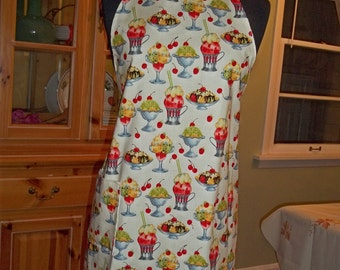 Cheery Cherries Apron in Darling Michael Miller Cherry Sundaes Fabric