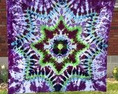 """60"""" x 64"""" Size - Tie Dyed Mandala Tapestry (167)"""
