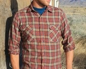 Old Rusty Ironside - Vintage 80s Levi's Plaid Indie Shirt, Thin & Soft, Medium