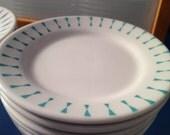 """Vintage """"Best China"""" Homer Laughlin plates - Set of 6 side plates"""