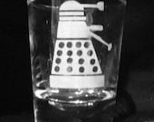 Doctor Who Dalek Custom Etched Shot Glass