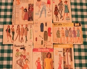 Lot of 35 vintage sewing patterns