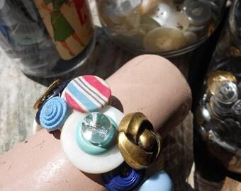 Nautical Button Bracelet