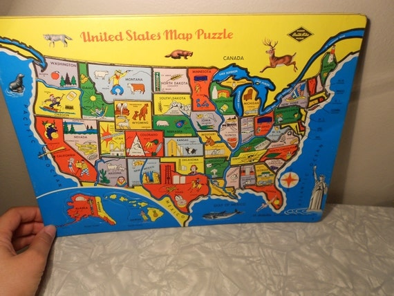 United States Map Puzzle-SALE 30% Off -Use Code SALE30