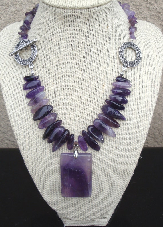 Amethyst Necklace with matching earrings
