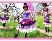 Crocheted Flower Petal Skirt