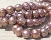 Freshwater  Pearl AA  8 mm Full strand 15 inches. Baroque  Pearl. . Bride Bridal