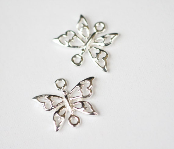 Reservad for Mitra Sterling Silver Supplies, Sterling Silver Butterfly Connector, Jewelry Supplies