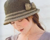 crochet hat women crochet  summer straw  hats with bow in  gray and white color