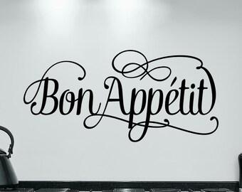 Bon Appetit vinyl wall decal