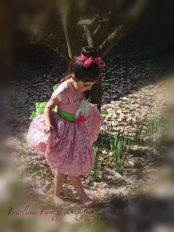 Fanciful Blossoms Flora Fairy Ballerina Dress perfect for flower girls costume parties and formal affairs