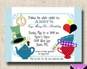 Printable Alice in Wonderland Party Invitations and Labels for Place/Tent Cards - SEEN ON Lilyandfrog
