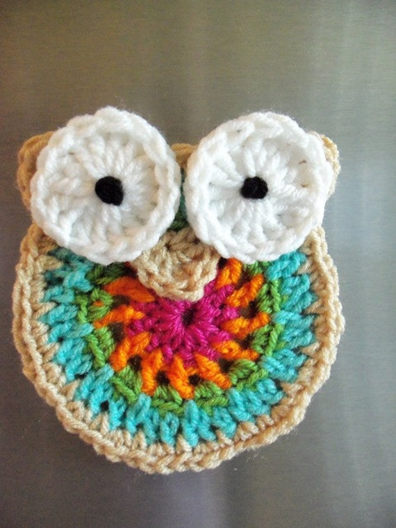 Decorative Owl Fridge Magnet