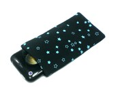 Blue & green stars iphone sleeve reversible