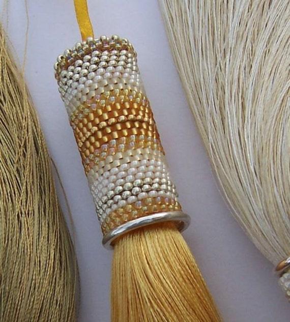 A Golden Touch - Light/ Dark Gold Beadwork Tassel