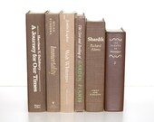 Vintage Book Collection 6  Interior Design Photography Prop  Home Decor Chocolate Brown