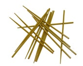 Chop Sticks Pick Up Sticks Style Lime Green Decor Hair Sticks