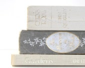 Reserved-Shabby Chic 3 Book Collection Grey White Interior Design Cottage Style Home decor