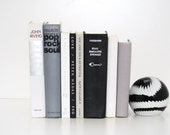 Modern Vintage 8 Book Collection Black Silver Grey White Interior Design