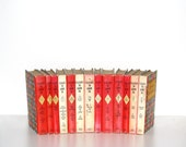 Classics To Grow On Red 13 Book Collection Childrens Decor Yellow Red 1964