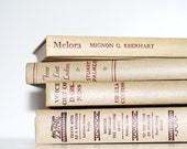 Beige Vintage 4 Book Collection Interior Design Vintage Book decor