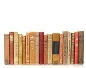 Front Page Featured-Library Filler 18 Book Collection Warm Tones Interior Design Vintage Book Decor