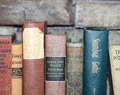 Multi Color Vintage 7 Book Collection Cottage Home Interior Design Vintage Book Decor